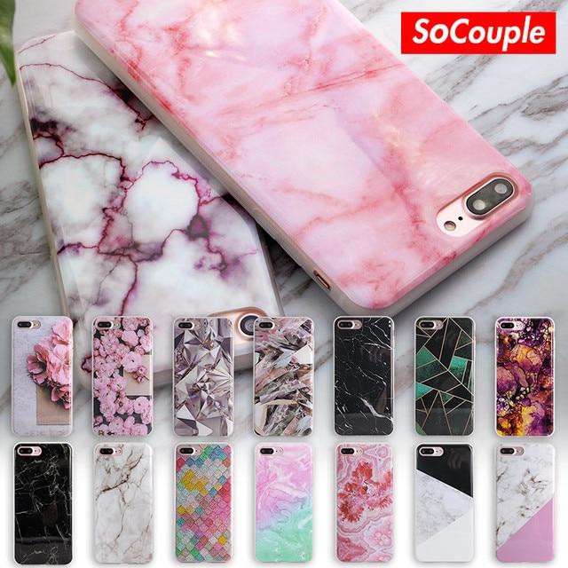 Soft TPU voor iphone 5 s 5 SE 6 6 s 6 plus Nieuwe collectie Graniet Scrub Marmeren Steen afbeelding Geschilderd Telefoon Case Voor iphone 7 7 plus
