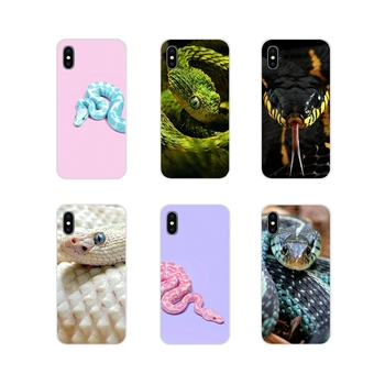 For Samsung Galaxy S3 S4 S5 Mini S6 S7 Edge S8 S9 S10 Lite Plus Note 4 5 8 9 Silicone Covers Pink Leather Snake Scales Kiu Green image