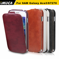 High Quality PU Leather Cases For Samsung Galaxy Ace 3 S7270 S7272 Phone Vertical Flip Cover