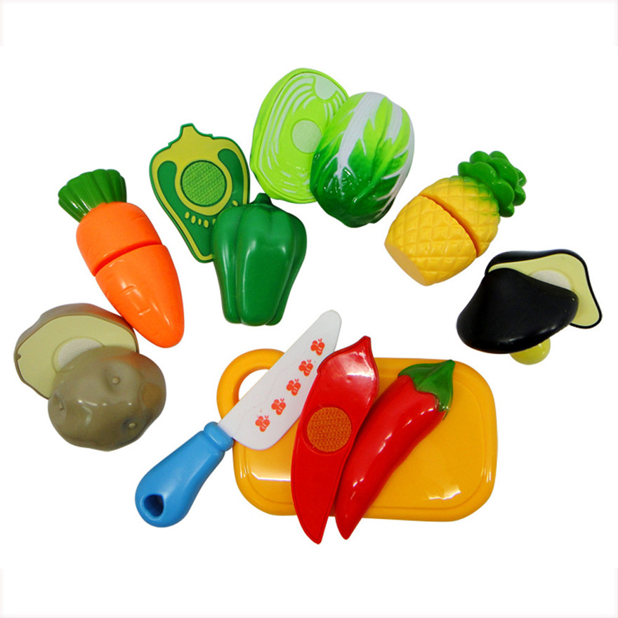 High Quality Fashion 7pcs Playhouse Toys Small Fruit Shop Simulation Utensils Kids Toy Toys Wholesale Free Shipping