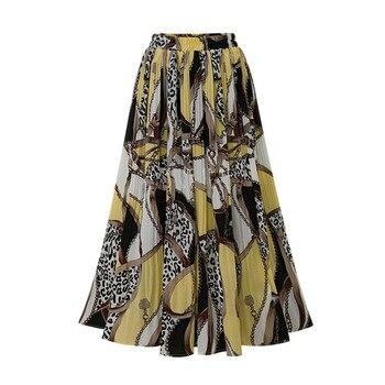 95dcf4e9f Falda de terciopelo flaca grande Swing largo plisado mujeres Faldas otoño  invierno más tamaño ...