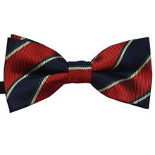 Fashionable Boys and Girls Children Print Stripes Point Tie Host Wedding Performance School Uniforms Artistic Decoration Bow Tie stylish stars and stripes pattern bow tie for men