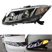 U Tube Style LED Guiding Headlight Bi Xenon Projector Fit For Honda Civic 12 15