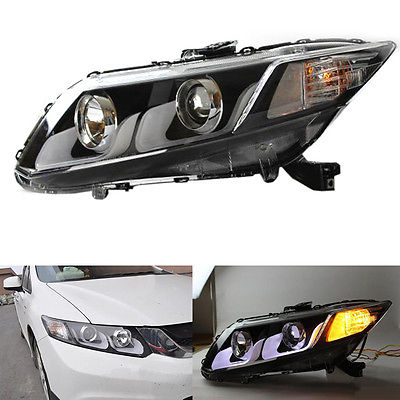 U-Tube Style LED Guiding Headlight Bi Xenon Projector Fit For Honda Civic 12-15 birren guiding autobiography groups for older adults