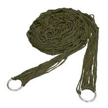 LNHF Free Shipping Deep Green Nylon Hammock Hanging Mesh Sleeping Bed Swing Outdoor