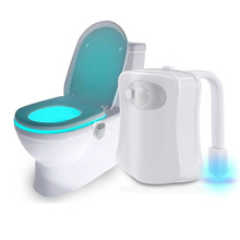 WC Toilet Light Smart PIR Motion Sensor Toilet Seat Night Light 8 Colors LED Battery Lamp Waterproof Backlight For Toilet Bowl ганул е а английский язык тексты для чтения и пересказа настольно печатная игра карточки фломастер