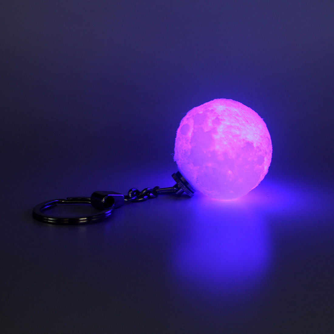 Keychain Colorfuls Change Football Led Light 3D Print Moon Lamp Glow Portable Hanging Night Light Bedroom Decor Creative Gifts