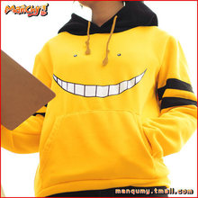 Cute Anime Cosplay Hoodies Assassination Classroom Women Men Hooded Jacket Yellow Hoodie Winter Harajuku Hoody Plus Size Outwear