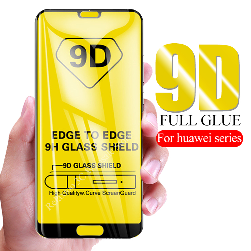 9D Full Glue Protective Glass On Honor 20 Pro 10 Light 8x 10i Safety Glass For Huawei P20 P30 Lite P Smart 2019 Tempered Glas 9H
