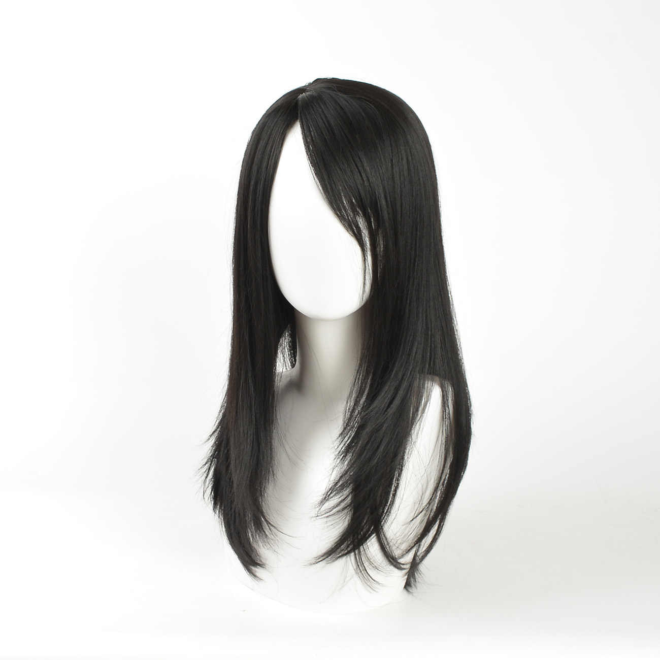 Длинные парики для женщин 22 дюйма Термостойкое волокно синтетический черный парик длинные прямые волосы натуральный цвет парик косплей