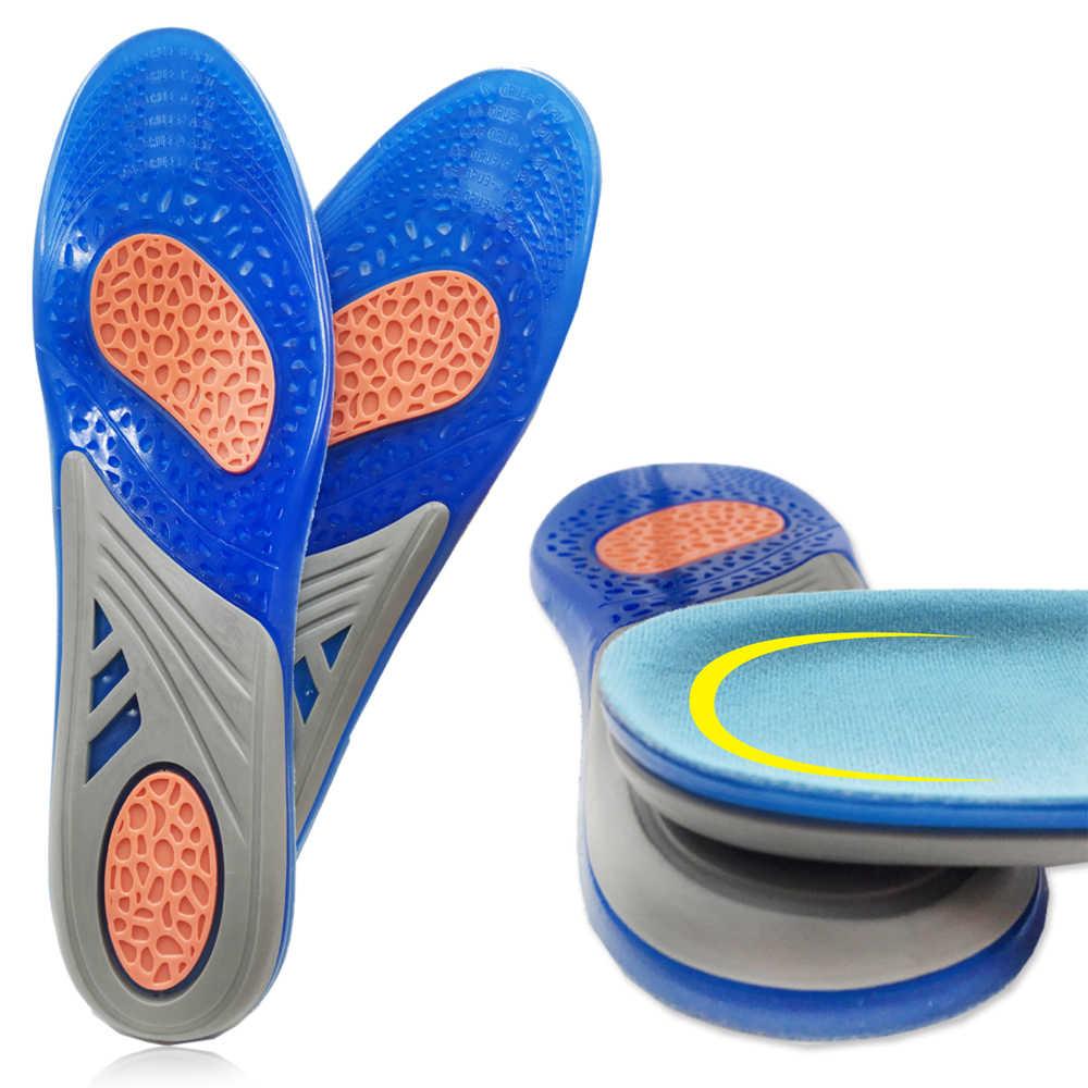 Silicone gel palmilhas ortopédico massagem inserções de sapato esportes absorção de choque sapato almofada confortável para homem mulher sapatos palmilha