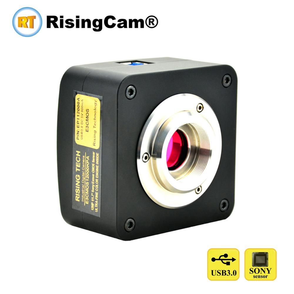 E3 sony IMX226 sensor 12MP USB3 0 digital USB Microscope Camera for trinocular biological microscope