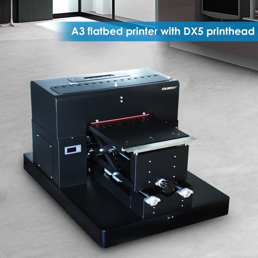 8 color A3 size Flatbed Printer T shirt Flatbed printer Textile Printer for T Shirt Printing