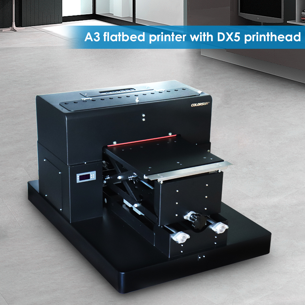 8 color A3 size Flatbed Printer T shirt Flatbed printer Textile Printer for T Shirt Printing Machine with DX5 printhead-in Printers from Computer & Office    1