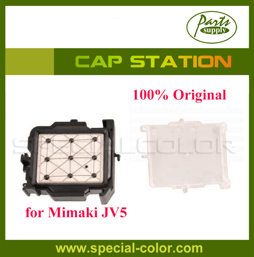 Origin from Japan DX5 Solvent Cap Station Top for Mimaki JV5 Printhead Capping Station 6pcs lot dx7 solvent cap top mutoh 1618 capping station protect head