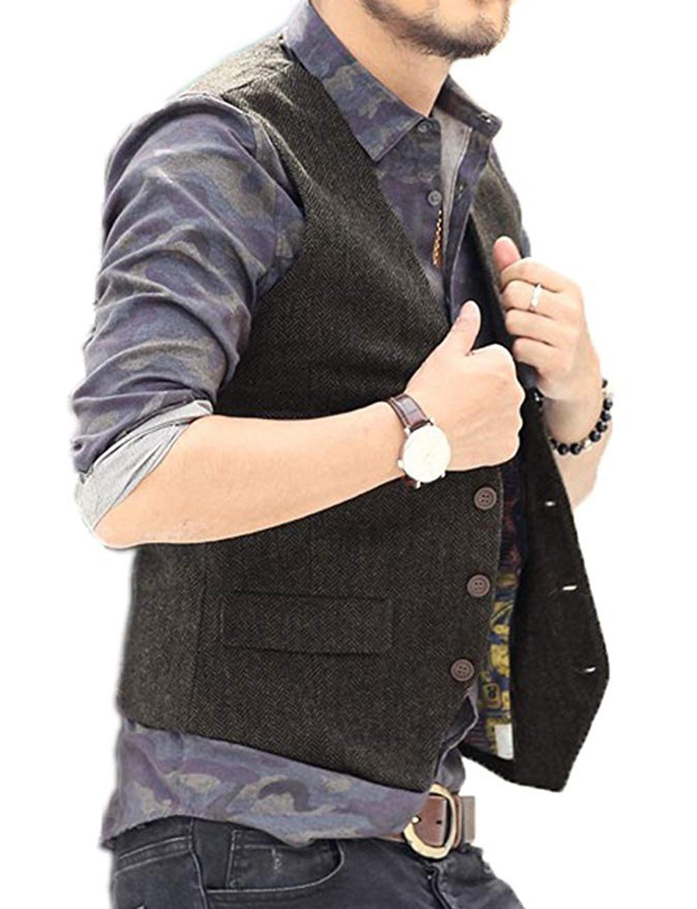 Men-s-Vest-Waistcoat-Slim-Fit-Suit-Vest-Herringbone-Tweed-Tuxedo-Vest (1)