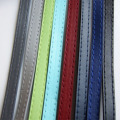 1m Fashion Jewelry Flat Leather Cord Stitching Thread PU Bracelets & Bangles Jewelry Craft Black Blue Gray Green 10x2mm