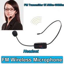 Para el Profesor de Altavoces de Radio FM Megáfono Micrófono Micrófono del Auricular Inalámbrico de Manos Libres Con pantalla Digital LCD