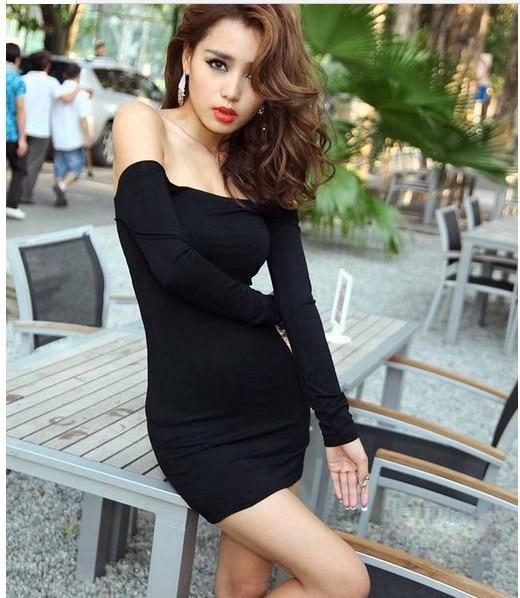 新しいファッション有名なデザイナー弾性黒セクシーなボディコン女性の服ヨーロッパスリムオフ