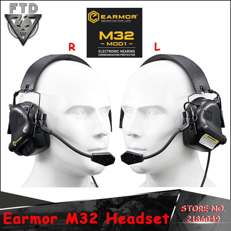 OPSMEN Earmor Airsoftsports Tactical M32 Headphones Military Aviation Communication Earphones For Shooting Airsoft