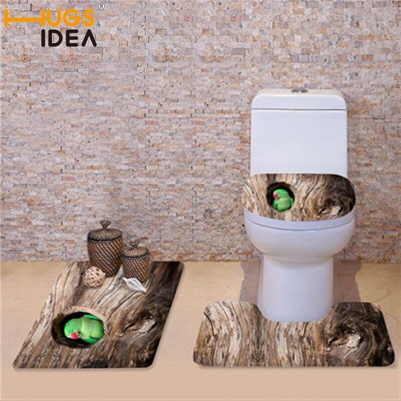 HUGSIDEA 3 पीस सेट टॉयलेट सीट कवर - होम बर्तन