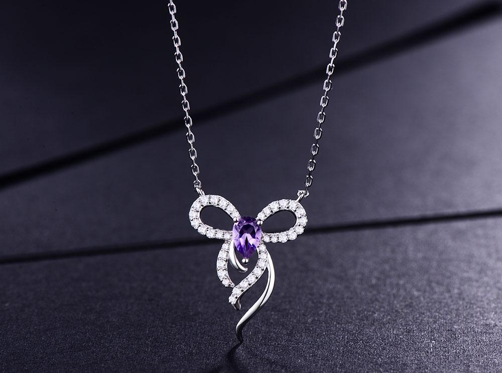 silver amethyst necklaces CAnl00382sa-1 (2)