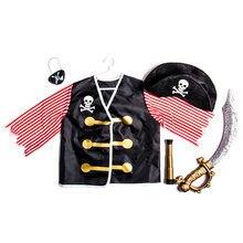 99336a6b565bf Enfants Jouer à Faire Semblant Jouets Pirate Rôle Jouer Enfants Fantaisie  Robe Costume Set pour Garçons