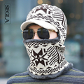SEGLA Balaclava Men Winter Snow Ski Cap Snowflake Wool Knit Earflap Cap Mask Outdoor Beanies&Skullies Cycling Plush Pocket Hat