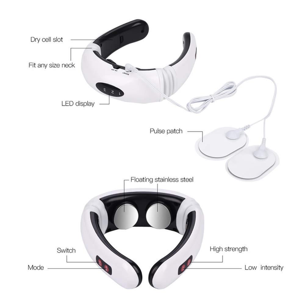 Smart EMS Electric Pulse Neck Treatment  Electro Cervical Vertebra Back Shoulder Pain relief Machine Massager Relaxation (4)