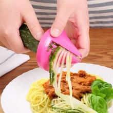 1 шт. кухонная Воронка модель спиральная овощерезка шинковка морковь резак для редиски кухонные аксессуары гаджеты измельченные