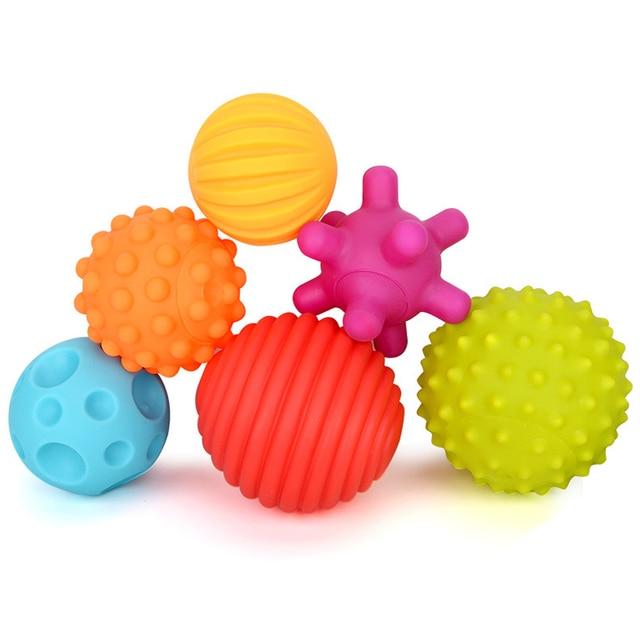 YETAA Mão Segurando Bolas de Treinamento Sentido Macio Multi Texturas Capacidade de Desenvolver Os Sentidos do bebê Brinquedo para Crianças Suave Massagem Bola