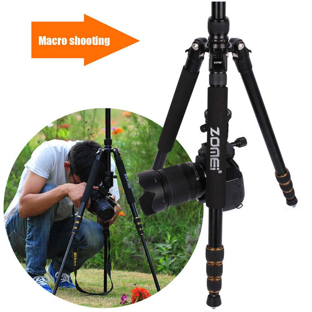 new Zomei Z688 Aluminum Portable Tripod Monopod Z 818  Travel Compact For Digital SLR DSLR Camera Stand Better than Q666-in Live Tripods from Consumer Electronics    3