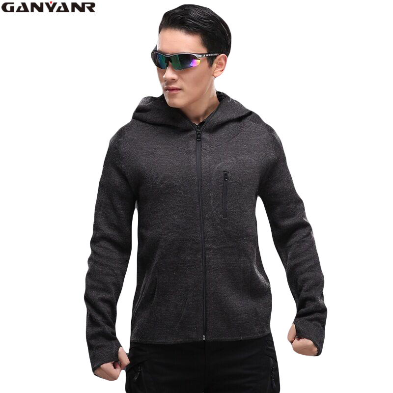 GANYANR Brand Fleece Jacket Men Softshell Winter Men Ski Hunting Clothes Outdoor Clothing Wool Tactical Military Thermal Solid us army tactical military winter coat men outdoor thermal cotton airborne jacket for sports airsoft hunting shooting edc clothes