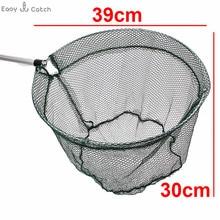 1.7m Aluminum Alloy Fishing Landing Net Nylon Mesh Telescopic Hand Net For Fish Folding Carp Fishing Dip Net Scoop Fishing Net