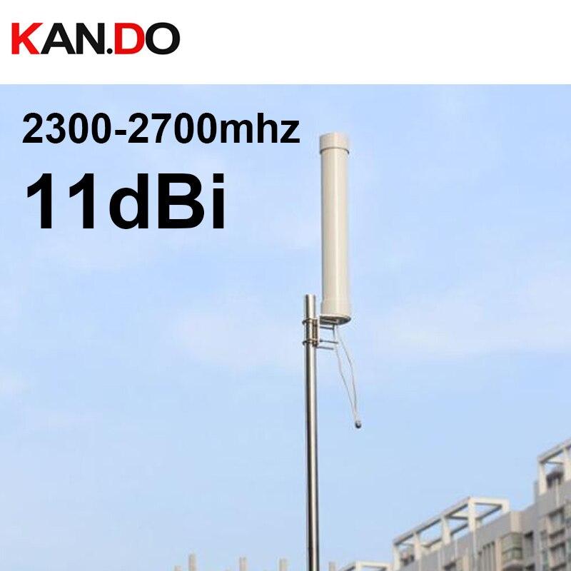 Industrial Grade ISM 2.4g Antenna 11dbi Omni Antenna Dual Polarization Wifi Antenna 2300-2700mhz Wifi AP Transmission 0.52meter