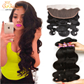 Mink brazilian Body Wave With Frontal Closure13x4 Brazilian Ear to Ear Closure With Baby Hair Brazilian Virgin Hair With closure