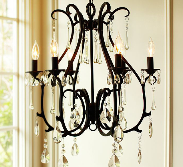 Vendimia 60 cm hierro vela múltiples araña país rural cristal luz de ...