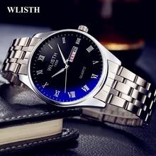 2019 New WLISTH   Watch Fashion Men Wrist Watch Stainless Steel Quartz Week English Calendar Man Clock Waterproof  Rolex_watch цена и фото