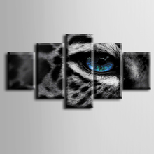 Wholesale 5 pieces / set of Animal series eyes wall art for decorating home Decorative painting on canvas framed/ZT-3-20