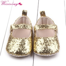 hot deal buy first walker toddler baby girls cotton sequin infant soft sole shoes soft bottom bebe girls shoes m1