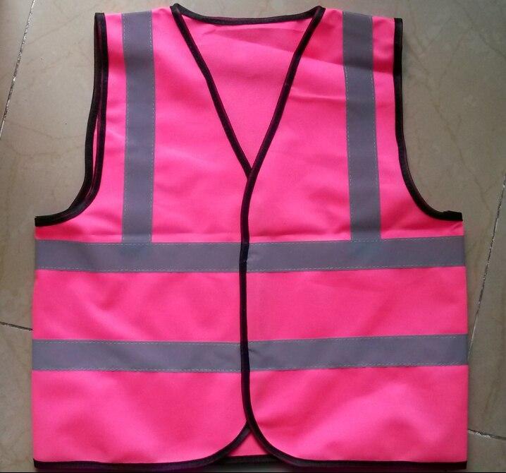 Free Shipping 100pcslot customized quality kidstudent reflective vest safety cycling vest traffic vest