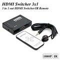 3 in1 out HDMI Switcher 5 in1 out HDMI Switcher Splitter 1080 P с ИК-Пульт Дистанционного Управления для PS3 PS4 для Xbox 360 ПК DV DVD HDTV