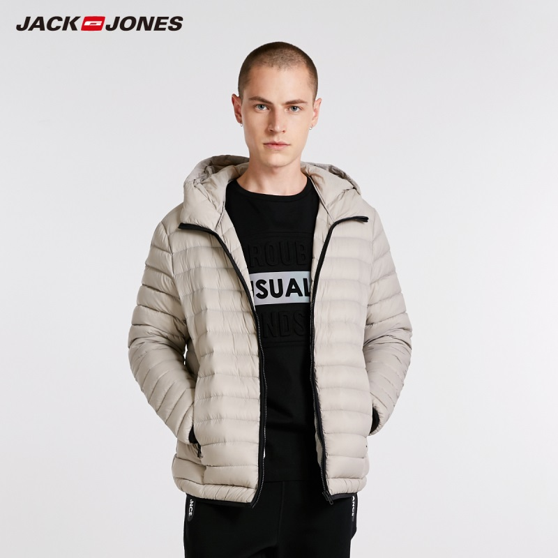 JackJones Men's Hooded   Down   Jacket Parka   Coat   Outerwear Menswear 218312508