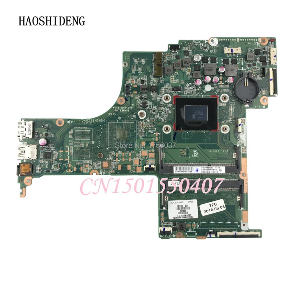 HAOSHIDENG 809400-501 809400-601 DA0X21MB6D0 X21 for HP Pavilion 17-G 17-G121WM motherboard with A10-8700P CPU.All fully Tested!