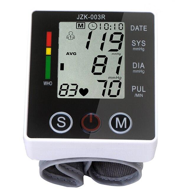 Digital pulse wrist bp Blood Pressure Monitors meters tonometer pulsometro sphygmomanometer cuff health care monitors for  heart