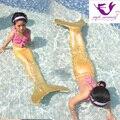 Myle fábrica de regalos de navidad para las niñas Nadar Mermaid Tail W Monoaleta Sparkle sirena cola de Halloween Costume Kids Niños