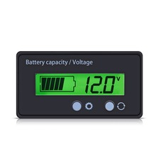 LCD Display Backlit Universal Battery Capacity Voltage Meter