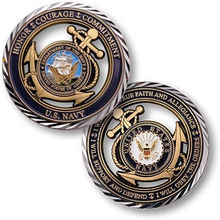 50PCS/LOT Free Shipping,~ U.S. Navy ~ Core Value Challenge Coin