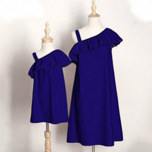 Mommy and Me Mother Daughter Dresses Family Clothes Summer Off Shoulder Long Party Mum Mom Fashion Dress