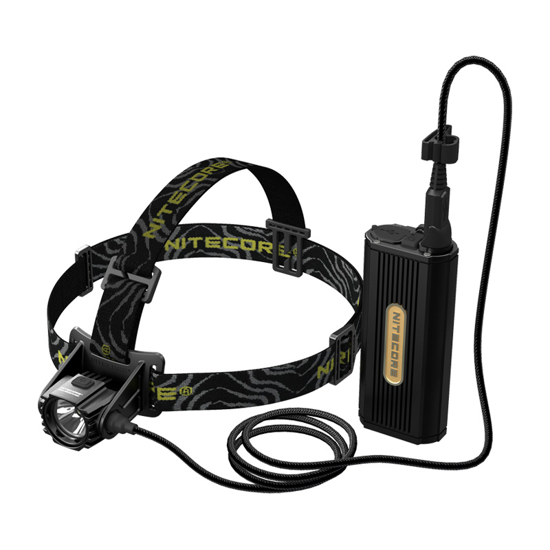 Nitecore HC70 1000 Lumens Rechargeable Cave Exploring Headlamp with External Battery Pack Waterproof Light Travel Free